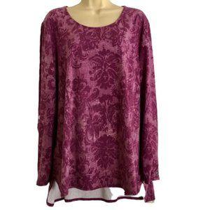 Susan Graver Weekend Printed Cotton Modal Top